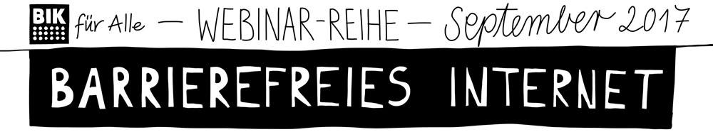 """Sketchnotes zu einer Webinarreihe zum Thema """"barrierefreies Internet""""."""