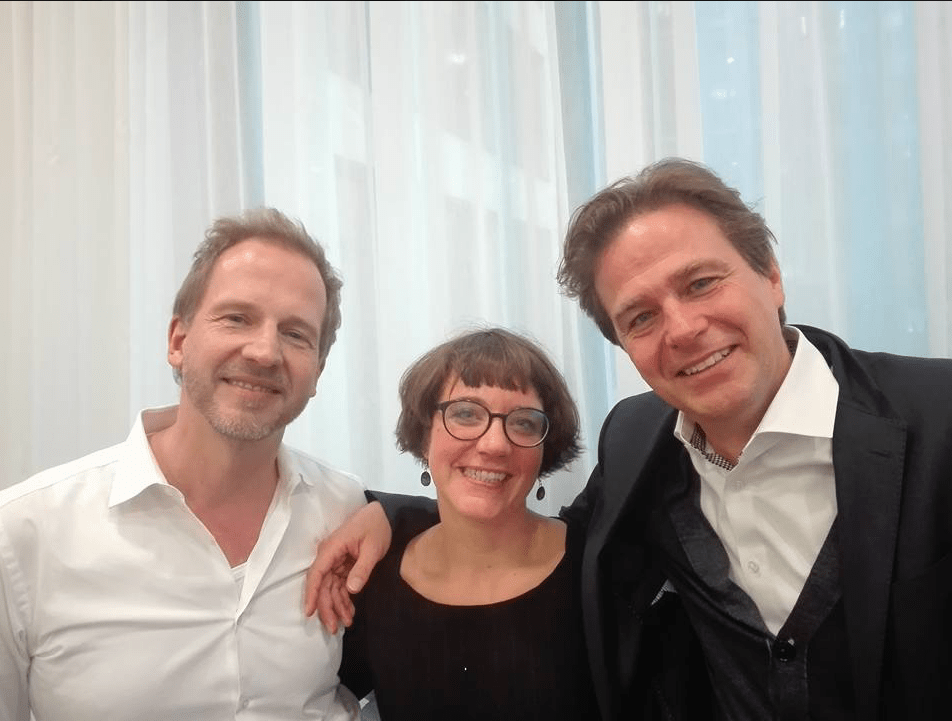 ich mit Carsten Bock und Andreas Berens (theUntold) in ihrem Brand-Storytelling-Kurs