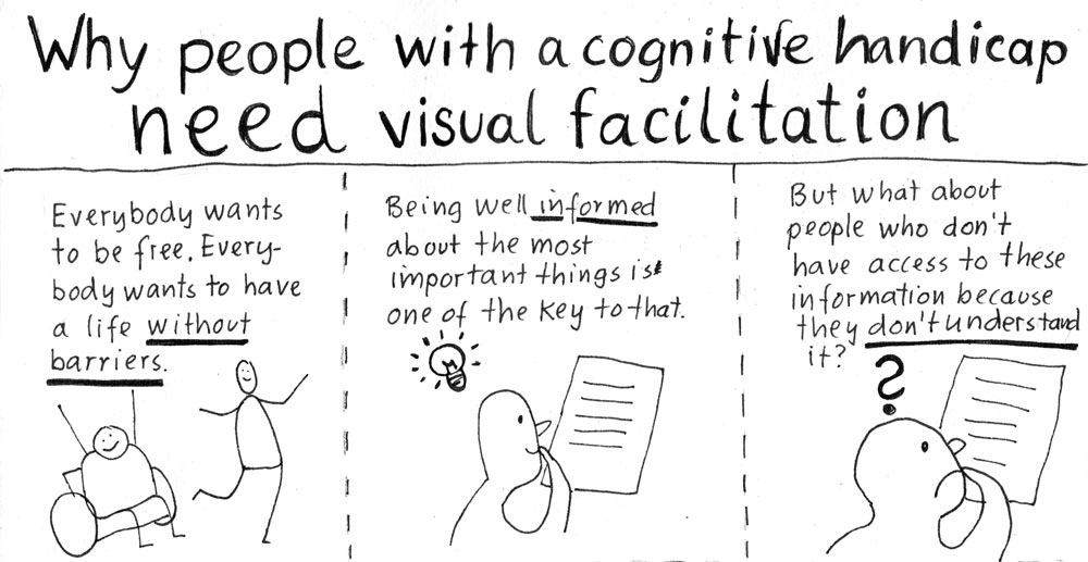 Titel: Why people with a cognitive handicap need visual facilitation